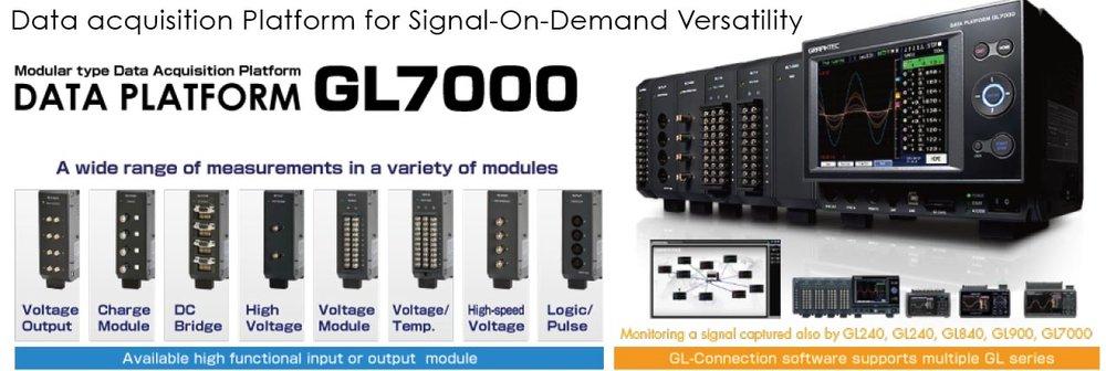 Graphtec Data Platform GL7000 Data Acquisition Platform for Signal On Demand Versatility