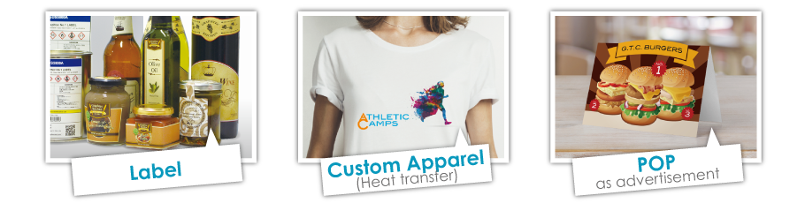 Graphtec Automatic Sheet Cutter Applications Label, Custom Apparel, Heat Transfer, POP as advertisement