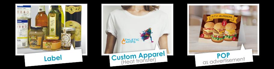 Graphtec Automatic Sheet Cutter Applications Label, Custom Apparel, Heat Transfer, POP as advertisement
