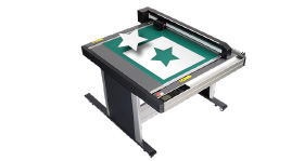 Cutting data is transferred to the cutting plotter. The cutting plotter starts the job.