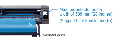 Graphtec Rollfeed Cutting Plotter CE Lite-50 Feature - Support Roll Media 20 Inches.jpg