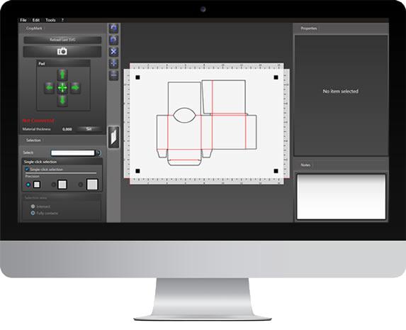 Sign Cutter Machine Packaging Cutter Large Cutter Flatbed Cutter Logo Cutter Graphtec-Optima-V250-Software-OptiCrop Monitor Mac1.png