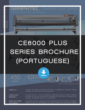 Vinyl Cutter Cutting Plotter CE6000 Plus Brochure 8.5x11 Portuguese