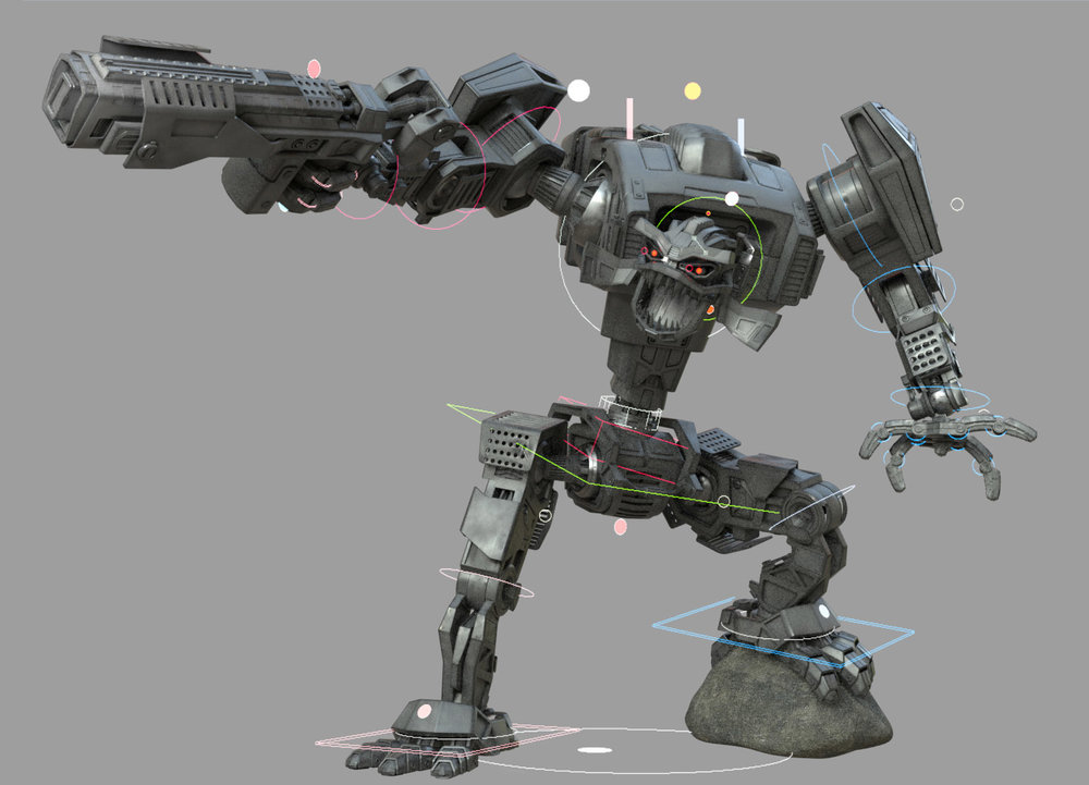 Robot Attack - Auto Character Setup 2 is main rigging and animation tool on the on going, live action short film Robot Attack by Brian Vowles. The film is featuring Brian's sons in confrontation with a big, bad robot.