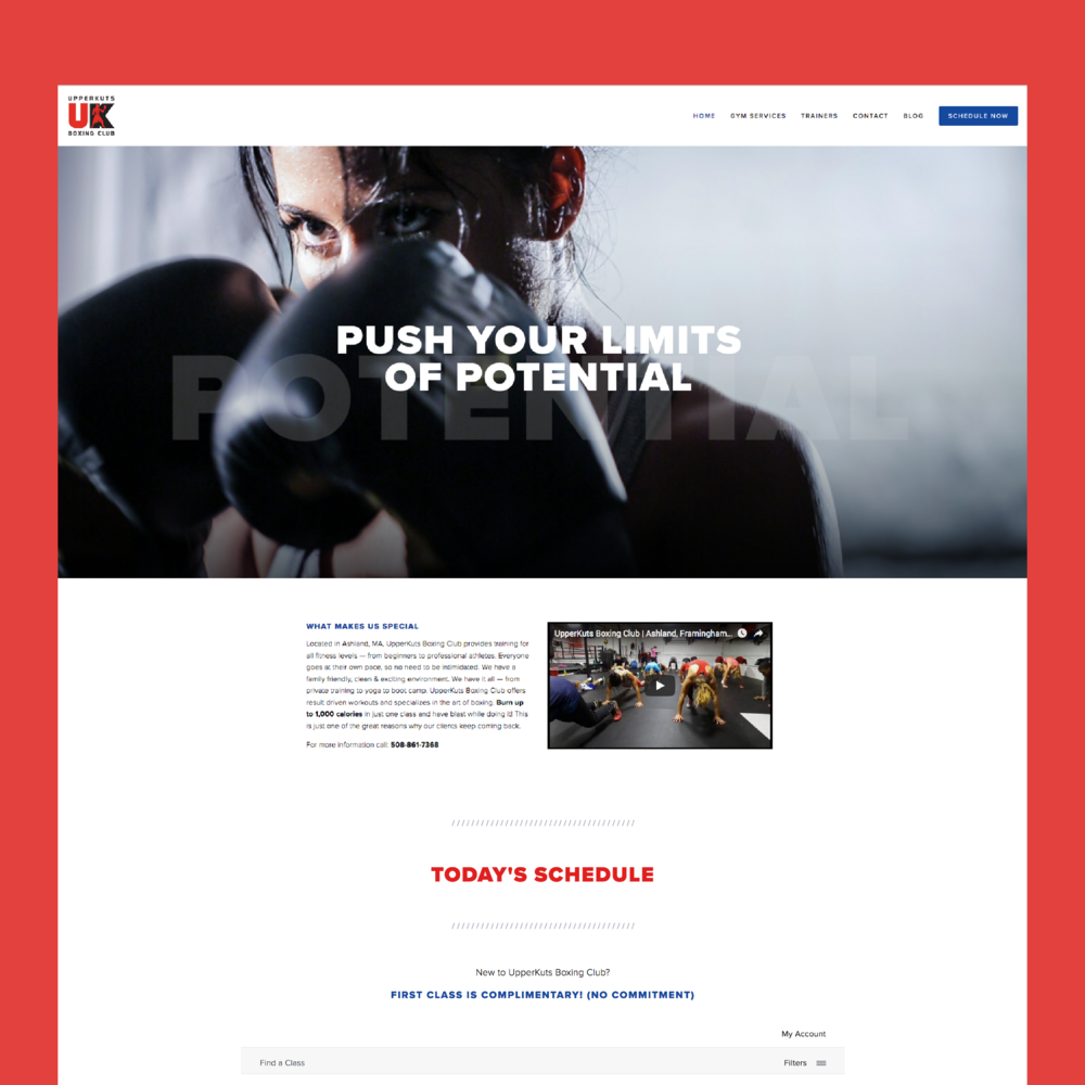 Website & Brand |  UpperKuts Boxing Club