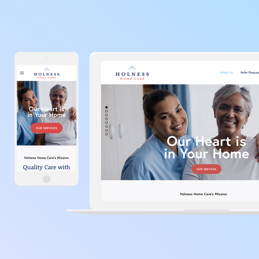 Logo and Website |  Holness Home Care