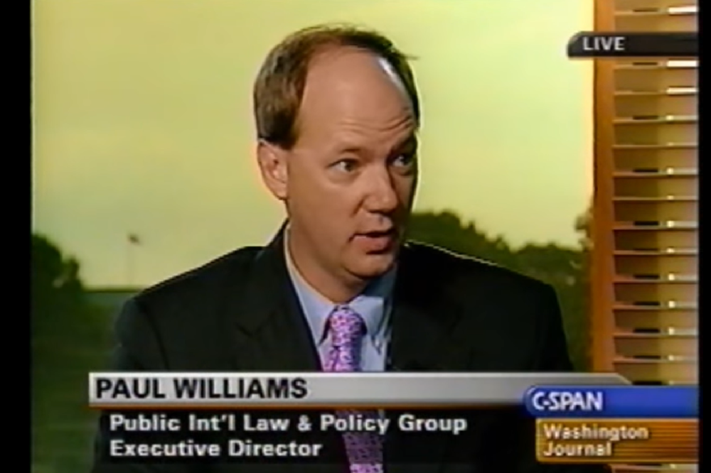 Dr. Paul Williams on the Washington Journal discussing the Iraq Constitution.