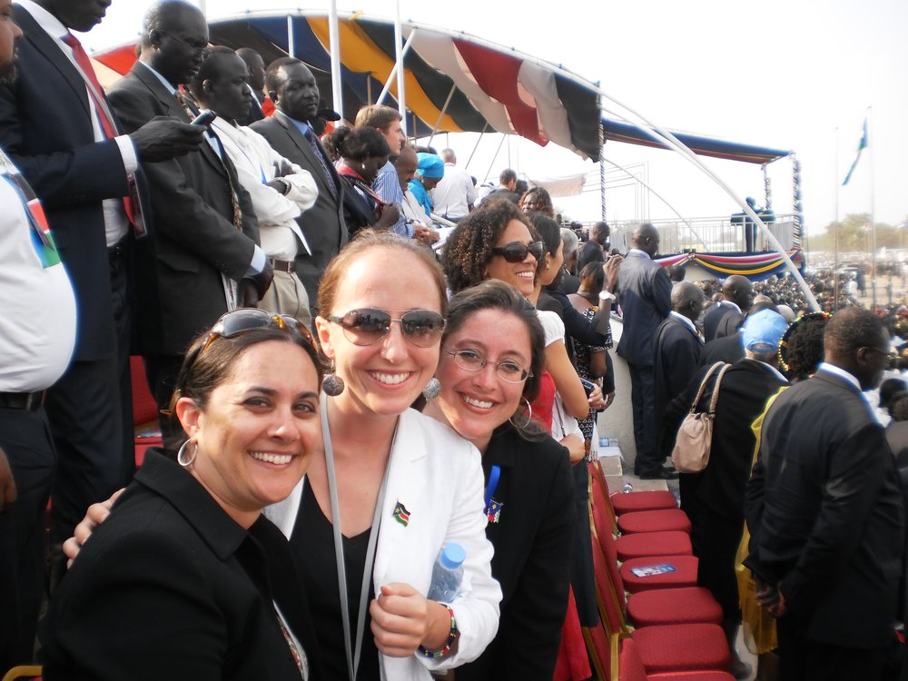 team at South Sudan declaration of Independence.JPG