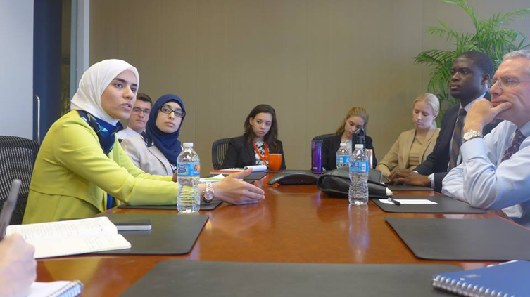 Bayan Al-Fathi, former Special Assistant to Etilaf's Executive Director, speaking at PILPG about the future for women in Syria
