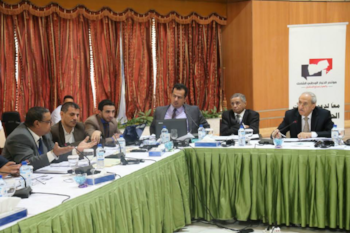 With the Yemen constitution drafting team Abu Dhabi.