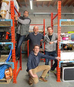 L'équipe Usitoo au complet : Sahid, Frédéric, Xavier et Benoît.