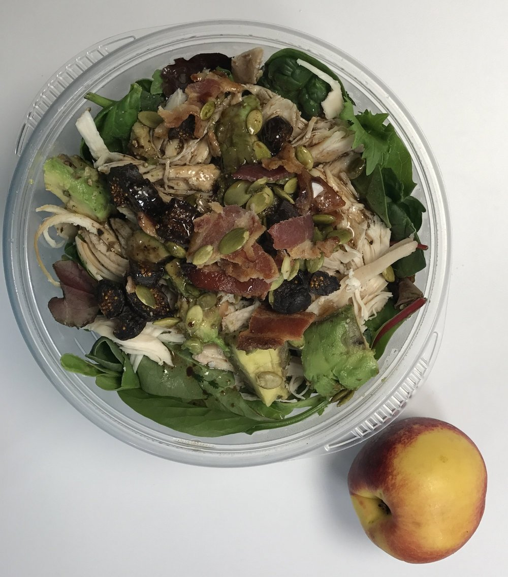 This picture is from the other day, but it's the same salad I've been eating all week.