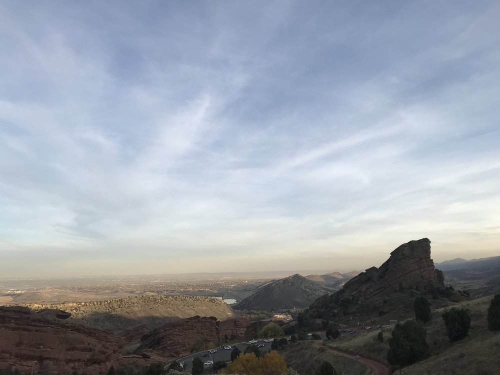 On top of the Red Rocks!
