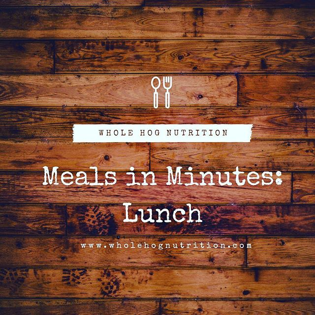 As a working girl, packing lunch has saved me time and money. I cover my tips and tricks in the second edition of Meals in Minutes. . . Check out www.wholehognutrtion.com for the deets. . . #mealsinminutes #lunch #healthylunch #glutenfree #grainfree #realfood #nutritionaltherapy #wholehognutrition