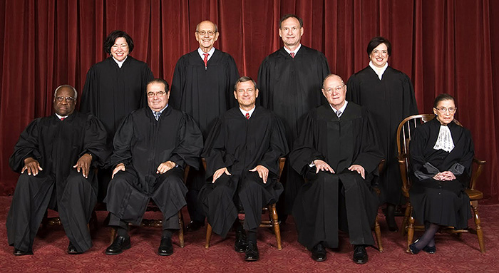 The members of the Supreme Court in 2010