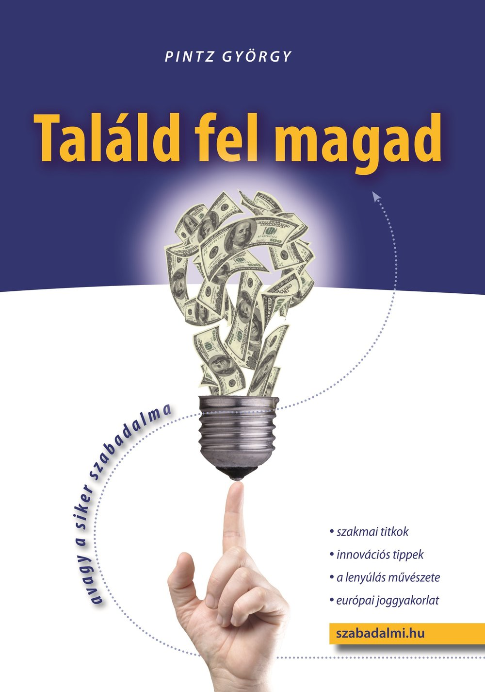 The book about patents in Hungarian, published in 2014.
