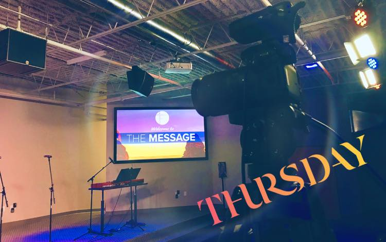 The Message  Thursday's @ 9 AM  Learn more!