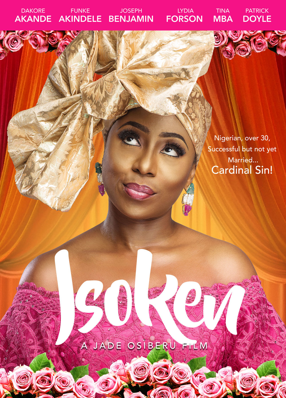 SYNOPSIS - Everyone in the Osayande family worries about Isoken. Although she has what appears to have a perfect life - beautiful, successful and surrounded by great family and friends - Isoken is still unmarried at 34 which, in a culture obsessed with married, is serious cause for concern. Things come to a head at her youngest sister's wedding when her overbearing mother thrusts her into an orchestrated matchmaking with the ultimate Edo man, Osaze. Osaze is handsome, successful and from a good family, making him perfect Nigerian husband material.But in an unexpected turn of events, Isoken meets Kevin who she finds herself falling in love with and he just might be what she truly wants in a partner. The only problem is, not only is he not an Edo man, he is Oyinbo (Caucasian). Isoken is a romantic dramedy that explores cultural expectations, racial stereotypes and the bonds that unite families in touching, dramatic and comedic ways.