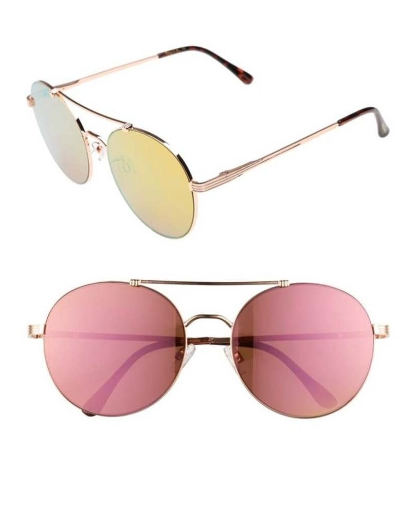 55mm Round Aviator Sunglasses