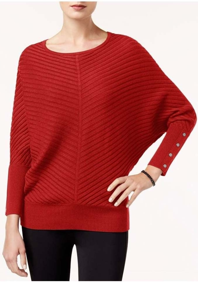 Alfani Dolman-Sleeve Ribbed Sweater