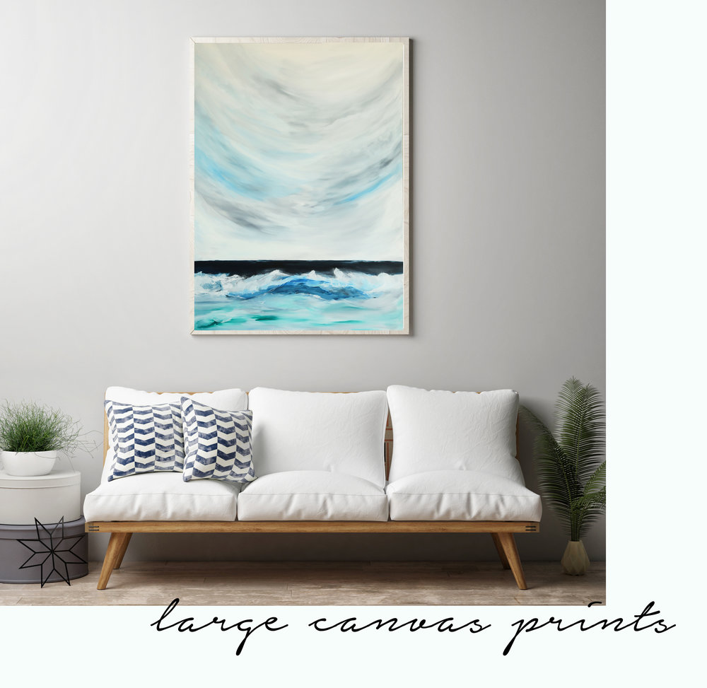 Large canvas print, coastal waves