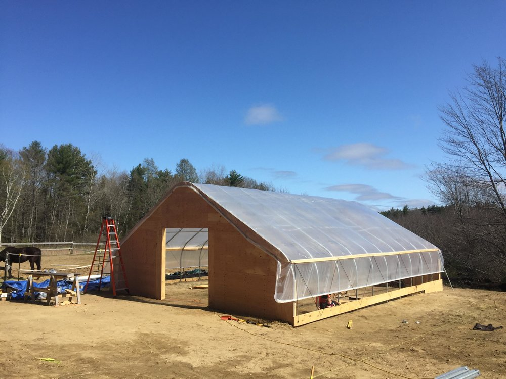 First one is completed - Very excited to have that first greenhouse built. On to the second, we will start to put plants in to this greenhouse immediately..