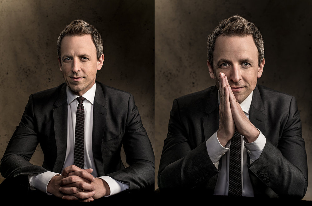 Seth Meyers photographed for Laughfest
