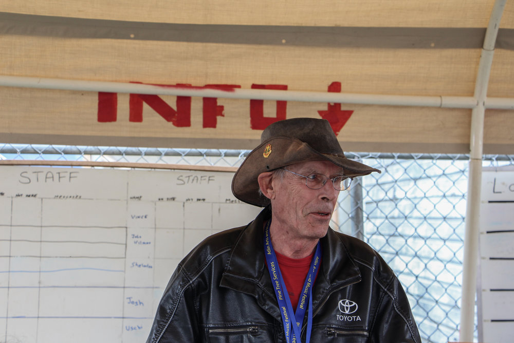 Earl Clark is a longstanding volunteer at the Atlin Arts and Music Festival and says there's no better place to listen to music and come together as a community.