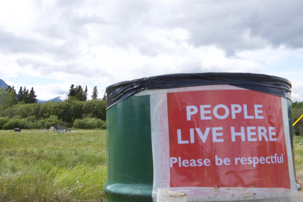 The Atlin Arts and Music Festival divides up the refuse from the guests into garbage, recycling and compost.