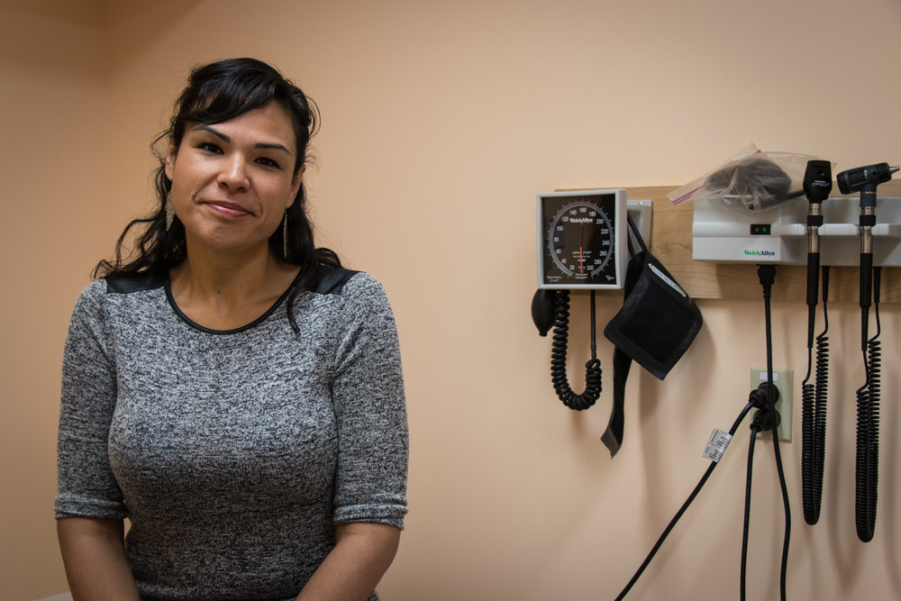 There is a clear lack of Indigenous people as medical practitioners. However, Jules is a First Nations RN and one of the four staff members at Taiga Medical Clinic.