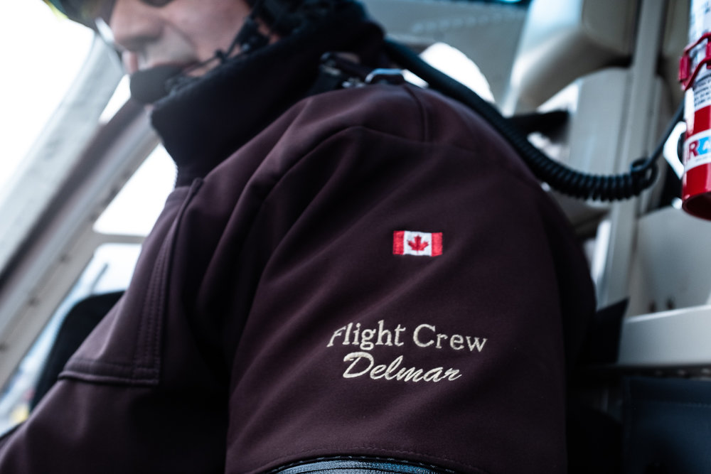 During the summer months, Capital Helicopters/Great Northern Heli Sports employs eight people.