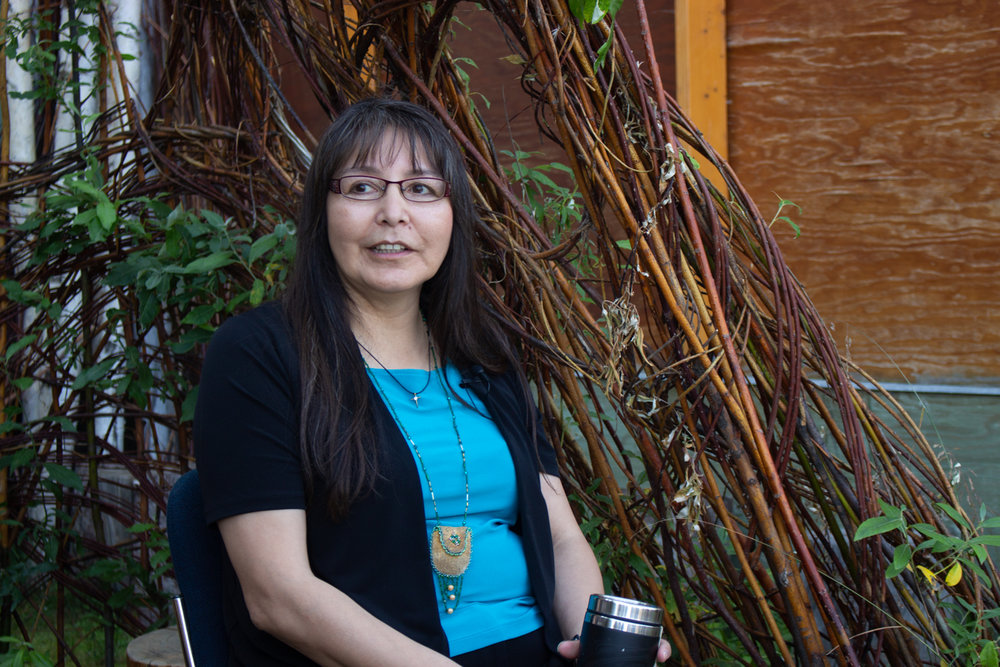 Tr'ondëk Hwëch'in Chief Roberta Joseph weighs the pros and cons of hard rock mining on her First Nation's traditional territory. Photo by Caroline Mercer