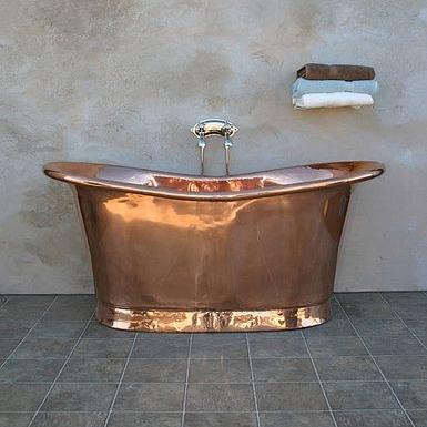 Fully Polished Copper Bateau