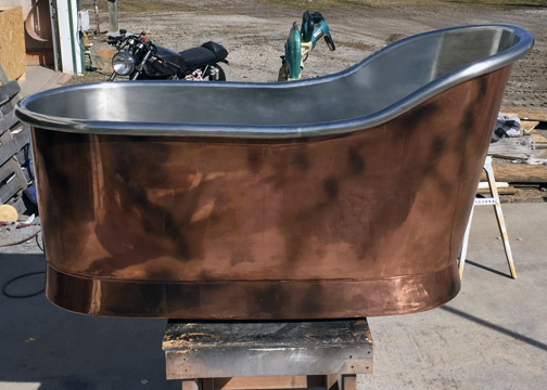 Copper Sabot deep soaking tub