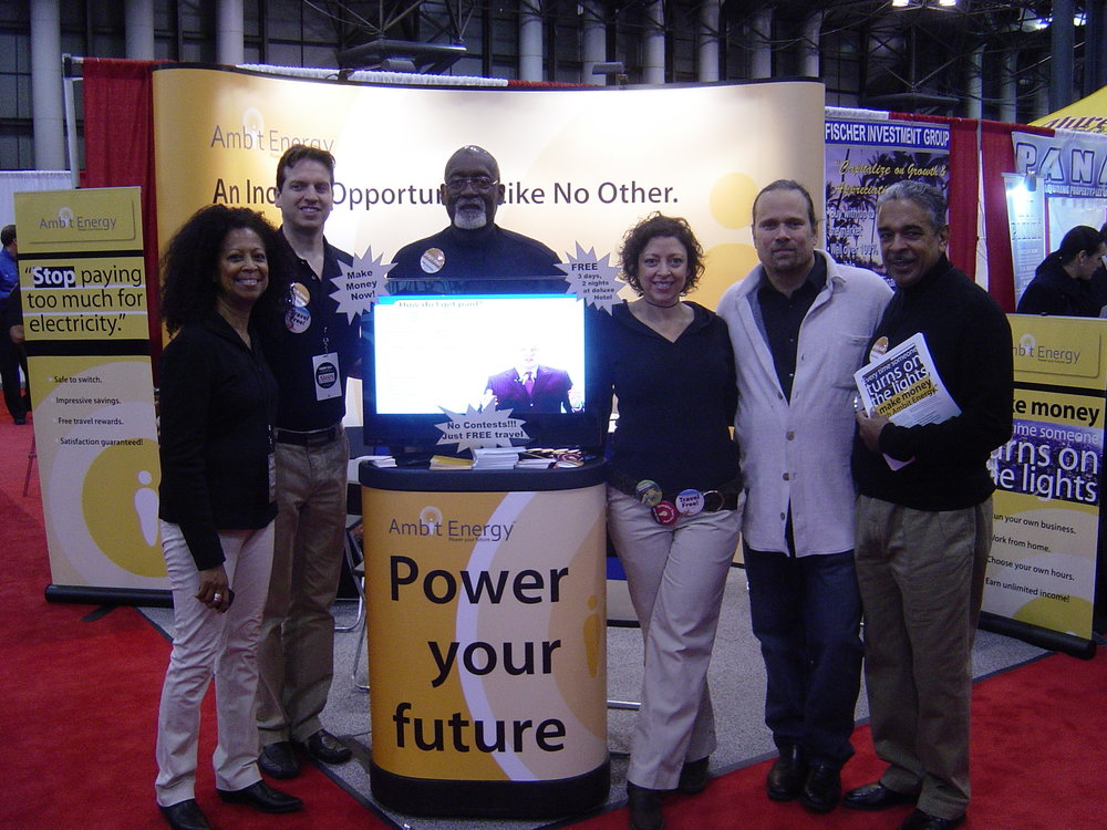 Trade show booth & crew