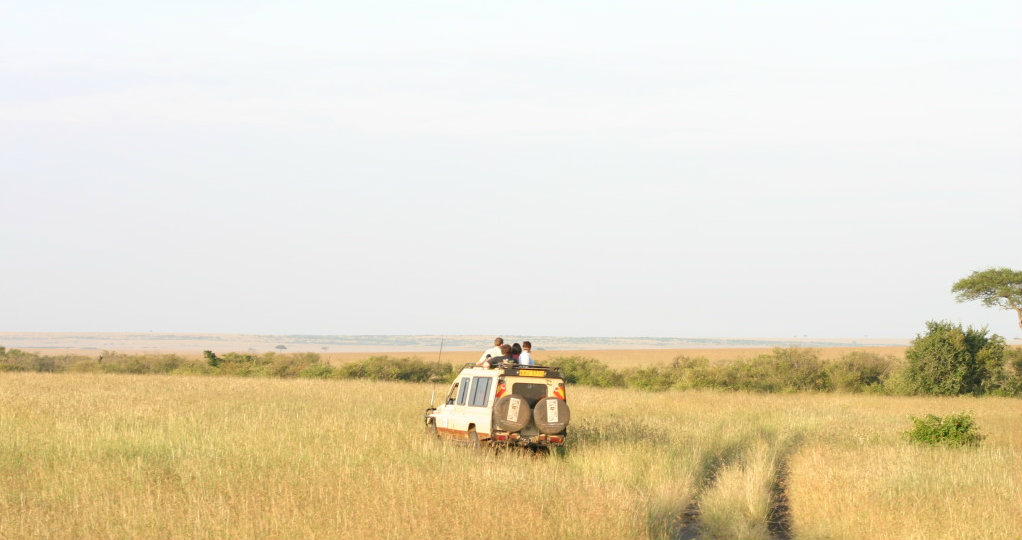 Tourists in the Masai Mara.