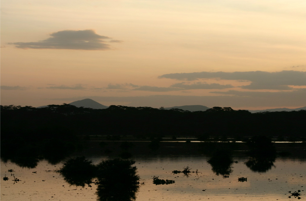 A beautiful sunset over Lake Naivasha.