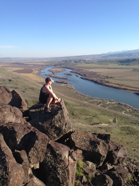 On top of the bluff located directly across the river from our property in the Snake River Valley, Idaho.