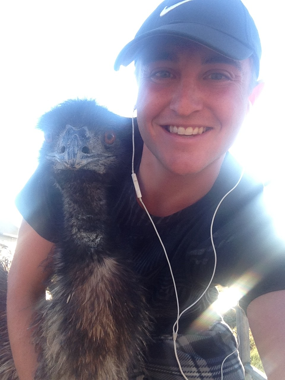 Fall emu selfie 1