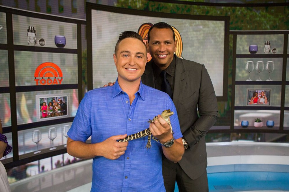 Me and A-Rod after the show in Studio 1-A. Photo Courtesy Nathan Congleton, Today Show Photographer.