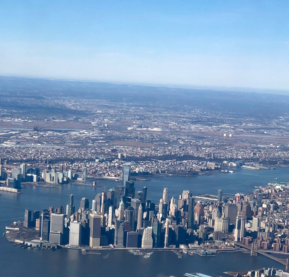 My view from the plane entering New York City.