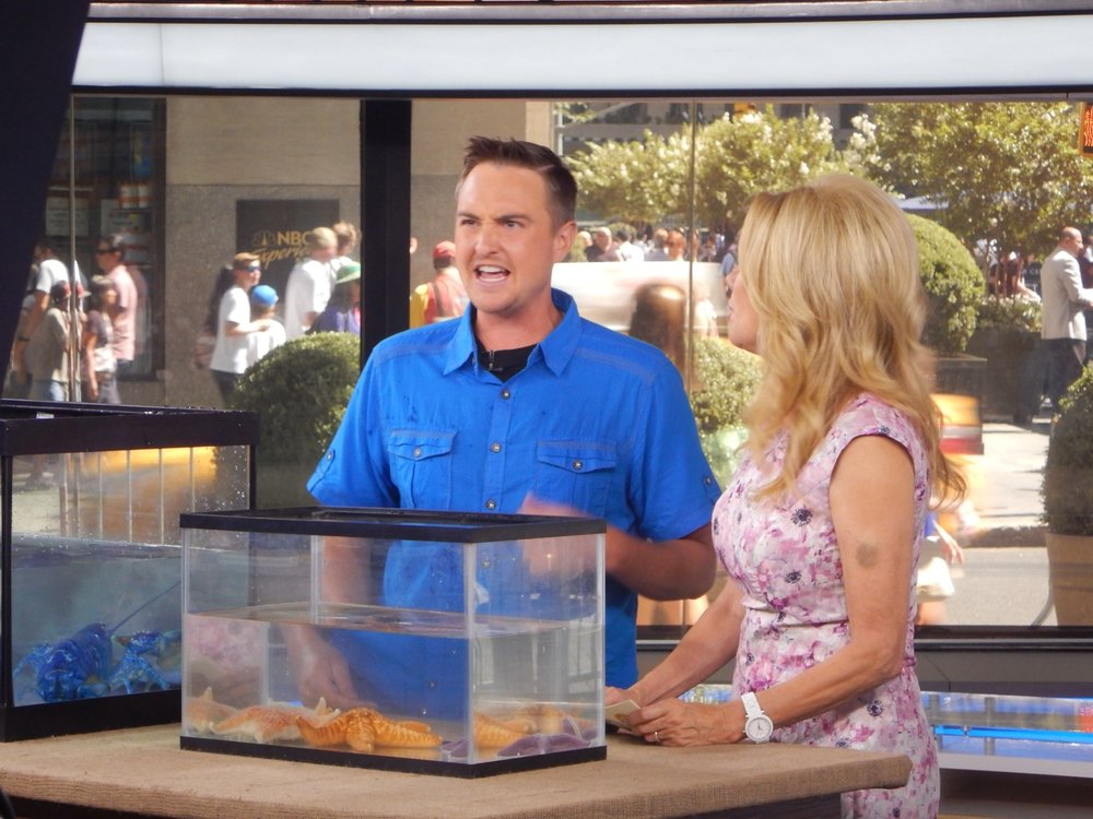 Me talking to KLG during a segment for National Zoo and Aquarium Month in June 2016.