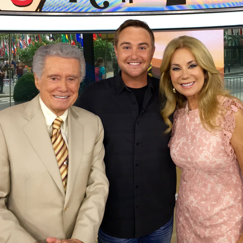 The legendary Regis Philbin and KLG in July 2016.