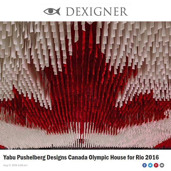Dexigner  - August 2016Yabu Pushelberg Designs Canada Olympic House for Rio 2016