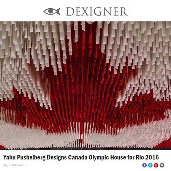 Dexigner.com - August 2016Yabu Pushelberg Designs Canada Olympic House for Rio 2016