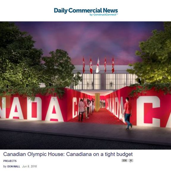 Daily Commercial News - June 2016Canadian Olympic House: Canadians on a tight budget