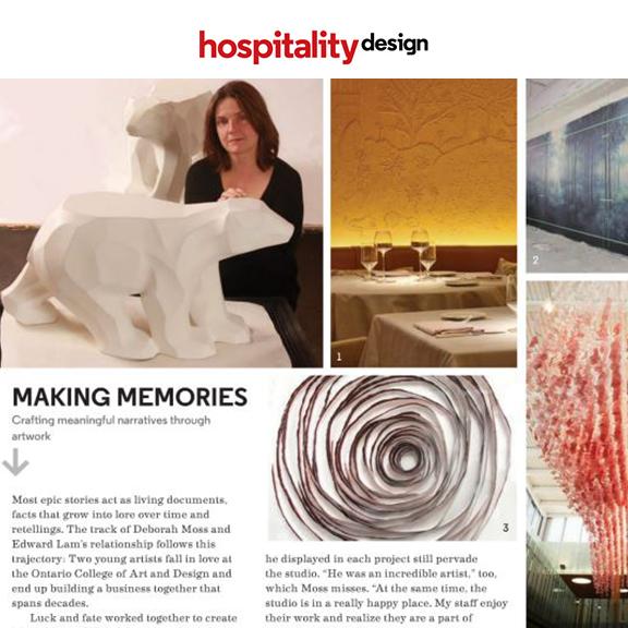 Hospitality Design - Novermber 2014Deborah Moss Making Memories