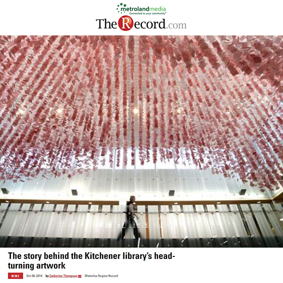 The Record - September 2014The story behind the Kitchener Library's head-turning artwork