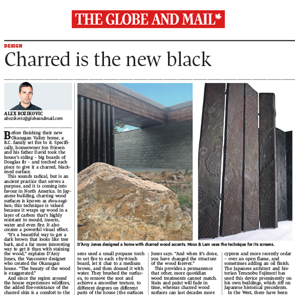 The Globe and Mail - December 2013Charred is the new black