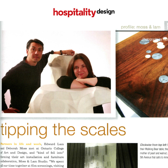 Hospitality Design - April 2012Tipping The Scales